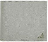 Prada Grey Saffiano Triangle Wallet