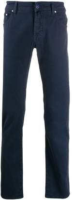 Jacob Cohen plain slim-fit trousers