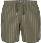 Topman Khaki Pinstripe Pull On Shorts