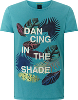 Scotch & Soda Dancing In The Shade Print T-shirt, Surf Blue Melange