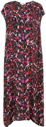 Dorothee Schumacher Floral Print Asymmetric Hem Dress