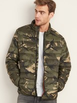 Old Navy Water-Resistant Camo Packable Quilted Jacket for Men