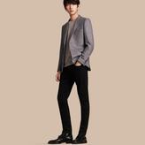 Burberry Slim Fit Wool Silk Linen Jacket