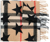 Burberry checkered scarf with stars