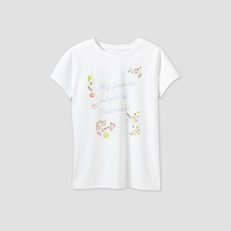 Cat & Jack Girls' Short Sleeve 'My Favorite Subject Is Unicorns' Graphic T-Shirt - Cat & JackTM