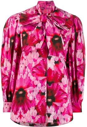 Alexander McQueen Ruffled Floral Blouse