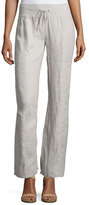 Eileen Fisher Organic Linen Wide-Leg Pants