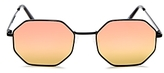 Quay On A Dime Mirrored Octagonal Sunglasses, 55mm