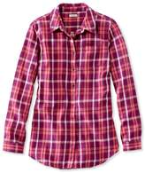 L.L. Bean L.L.Bean Washed Twill Tunic, Long-Sleeve Plaid