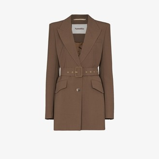 Nanushka Honor belted blazer jacket
