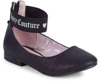 Juicy Couture Girl's Logo Strap Flats