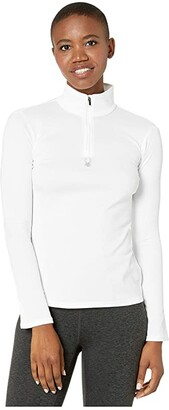 Spyder Tempting Zip T-Neck (White) Women's Sweater