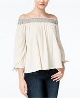 Jessica Simpson Marlena Off-The-Shoulder Peasant Top