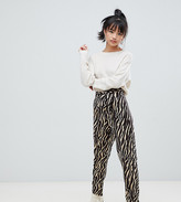 Asos DESIGN Petite tiger print belted peg pants