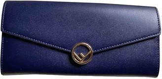 Fendi Blue Leather Wallets