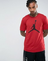 Jordan Nike Jumpman Logo T-Shirt In Red 834473-687