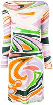 Emilio Pucci printed fitted dress - women - Viscose/Silk - 40