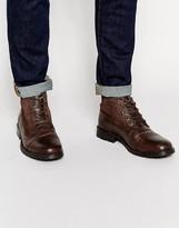 Jack & Jones Kingsley Leather/suede Boots - Brown