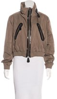 Burberry Leather-Trimmed Zip-Up Jacket