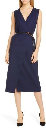 Altuzarra Belted Wool Pencil Dress
