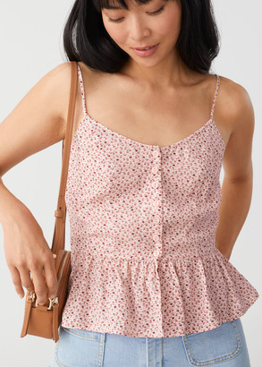And other stories Buttoned Jacquard Strap Top