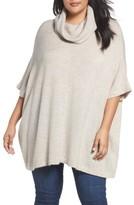 Plus Size Women's Caslon Turtleneck Poncho Sweater