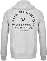 True Religion Crafted Pride Full Zip Hoodie Grey