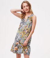 LOFT Tapestry Flounce Dress