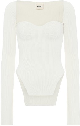 KHAITE Maddy ribbed-knit top