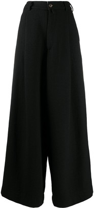 Societe Anonyme High Waisted Flared Leg Trousers