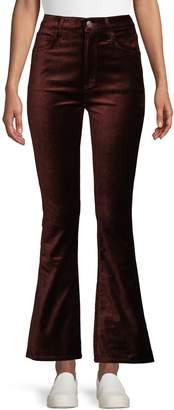 A Gold E Agolde Cotton-Blend Flare-Leg Pants