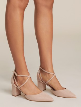 Forever New Zara Two-Part Court Shoes - Blush - 37