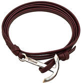 Miansai Modern Anchor On Leather in Burgundy.