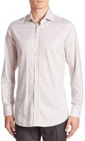 Luciano Barbera Regular-Fit Windowpane Check Shirt