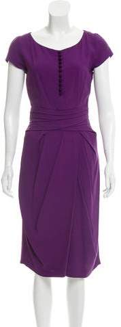 Christian Dior Short Sleeve Midi Dress