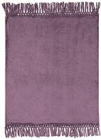 Bohemian Fringe Throw, 46x 56, Dusty Purple