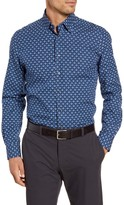 Emanuel Berg Regular Fit Floral Print Button-Down Shirt