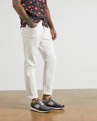 Ted Baker Straight Fit Cotton Ecru Jeans