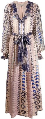 Temperley London Delilah snakeskin-print dress