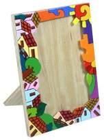Pinewood photo frame (4x6), 'Happy Home'
