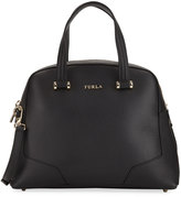 Furla Michelle Medium Leather Domed Satchel Bag