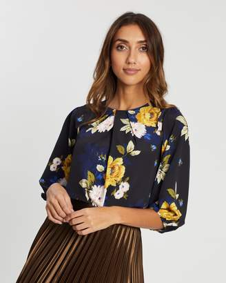 Dorothy Perkins Floral 3/4 Sleeve Top