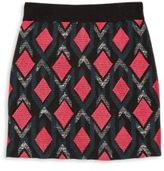 Milly Minis Girl's Diamond Jacquard Mini Skirt