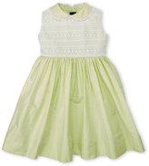 Oscar de la Renta Toddler Girls) Mint Silk Dress