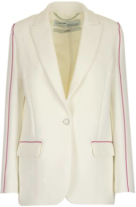Off-White Contrasting Trim Blazer