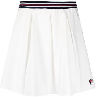 Fila Stripe-Detail Pleated Miniskirt