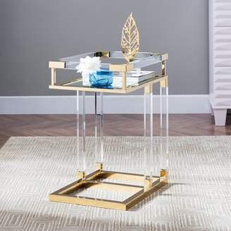 Everly Quinn Guilford End Table Quinn Color: Gold