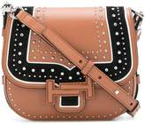 Tod's Double T studded shoulder bag