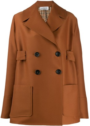 Lanvin Double-Breasted Short Coat