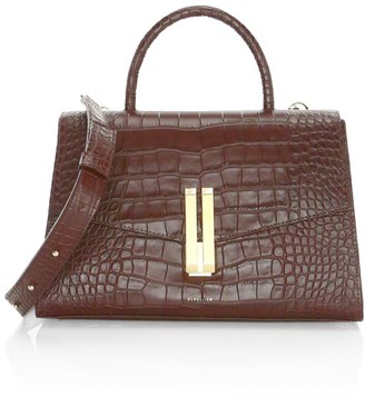 DeMellier Montreal Croc-Embossed Leather Satchel